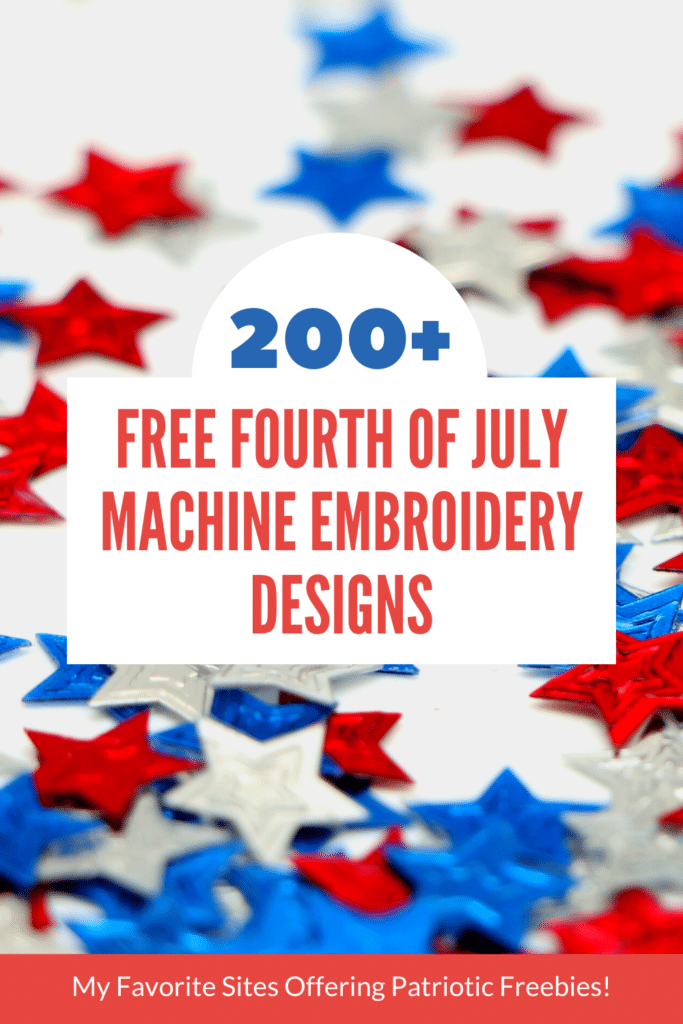 free fourth of july embroidery designs