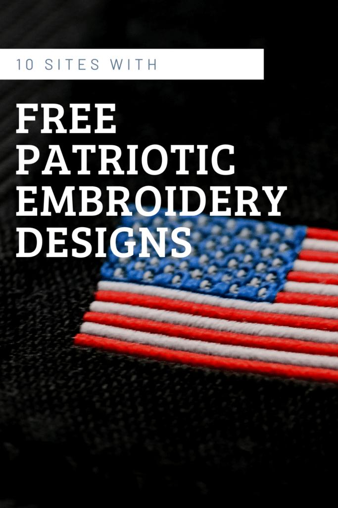 free patriotic embroidery designs
