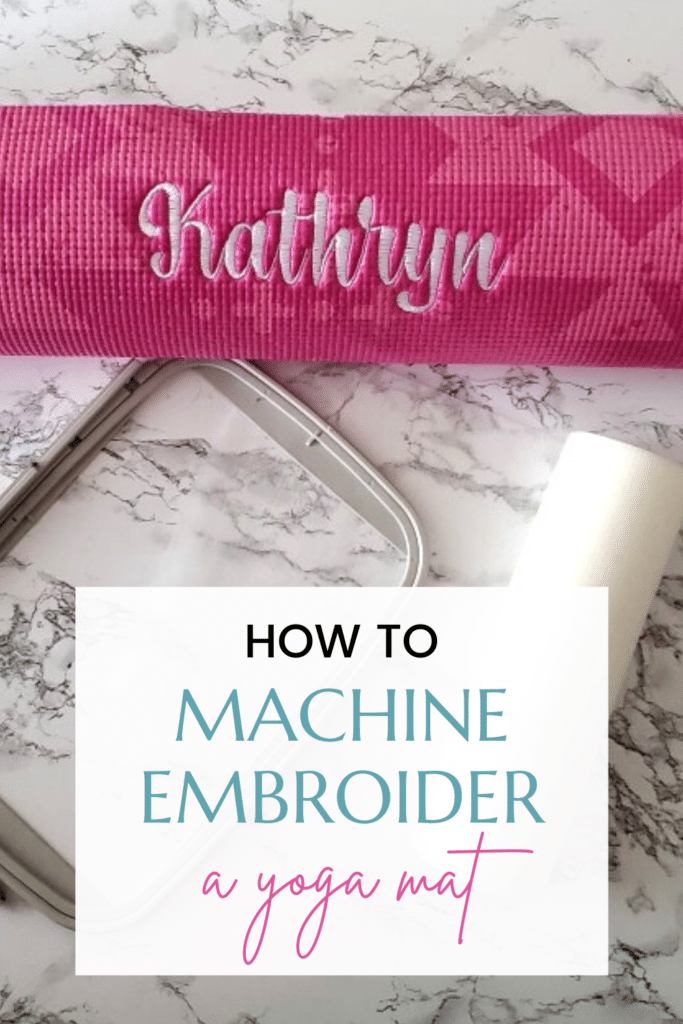 machine embroider a yoga mat