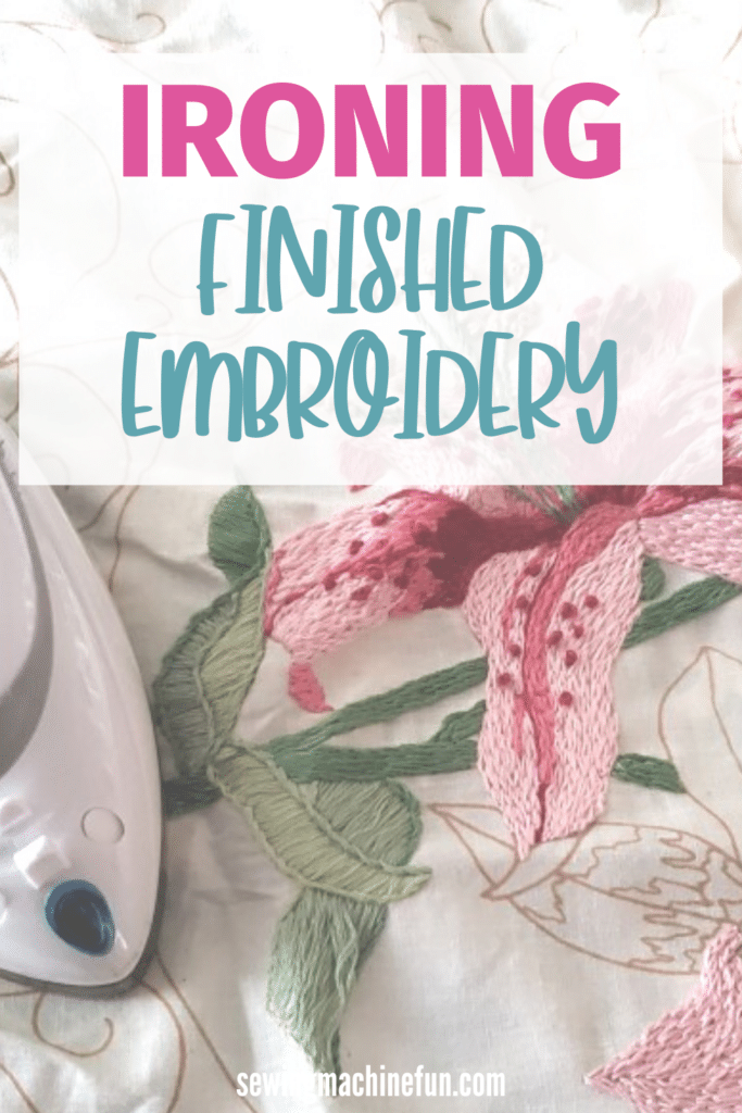 how to press embroidery