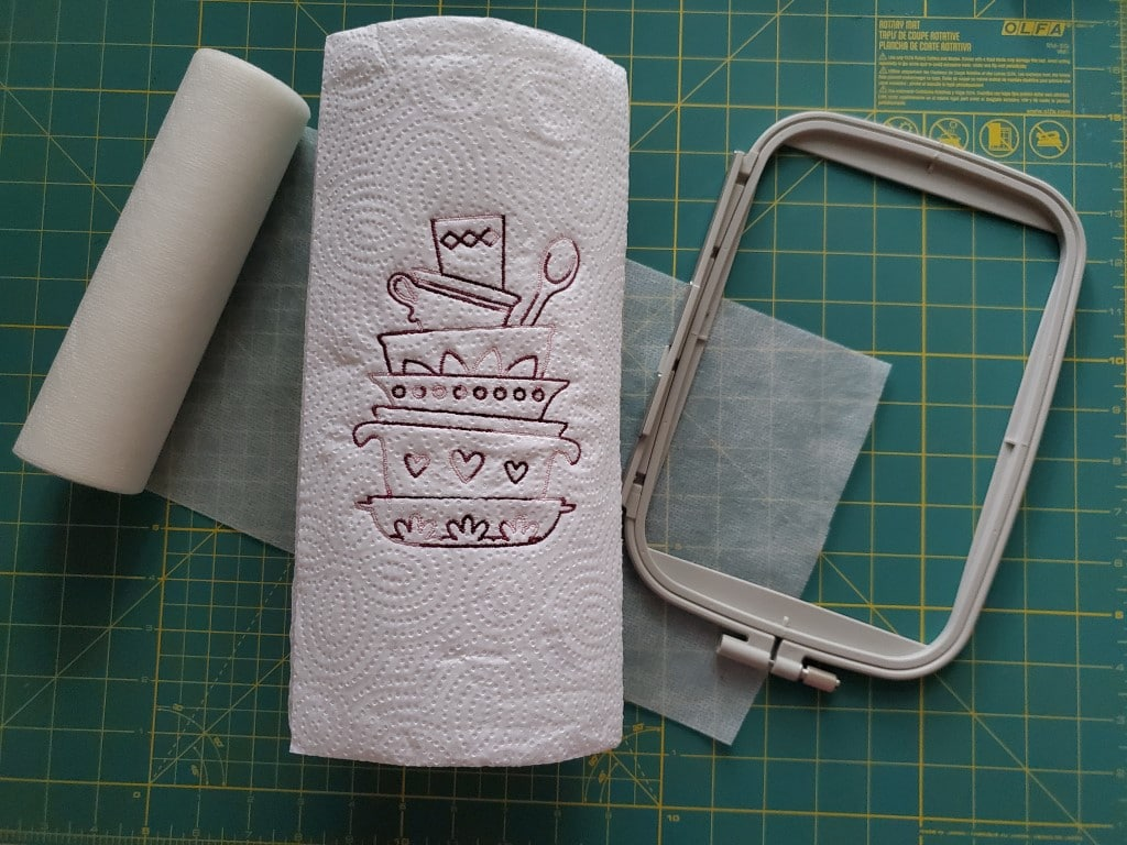 embroidered paper towel rolls