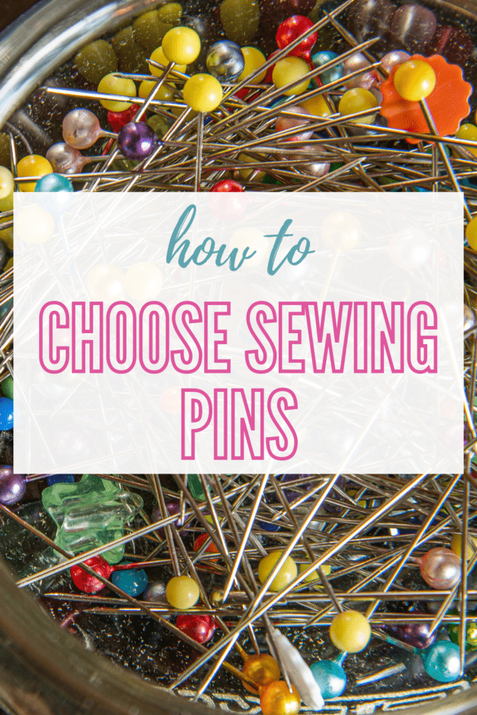 how to choose sewing pins: sizes, types, and materials