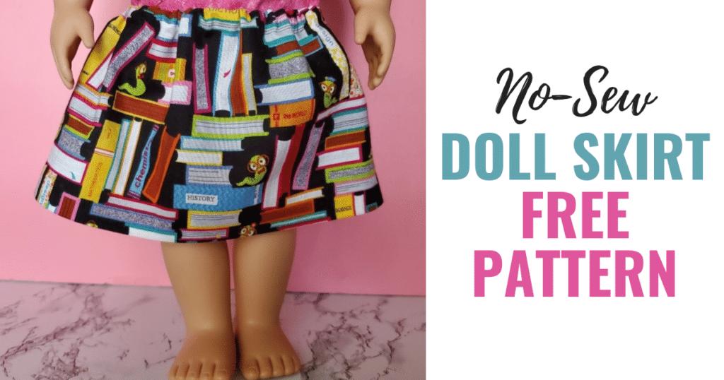 No-Sew Doll skirt Free Pattern