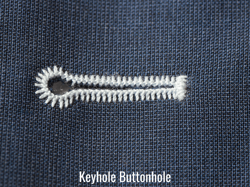 keyhole buttonhole