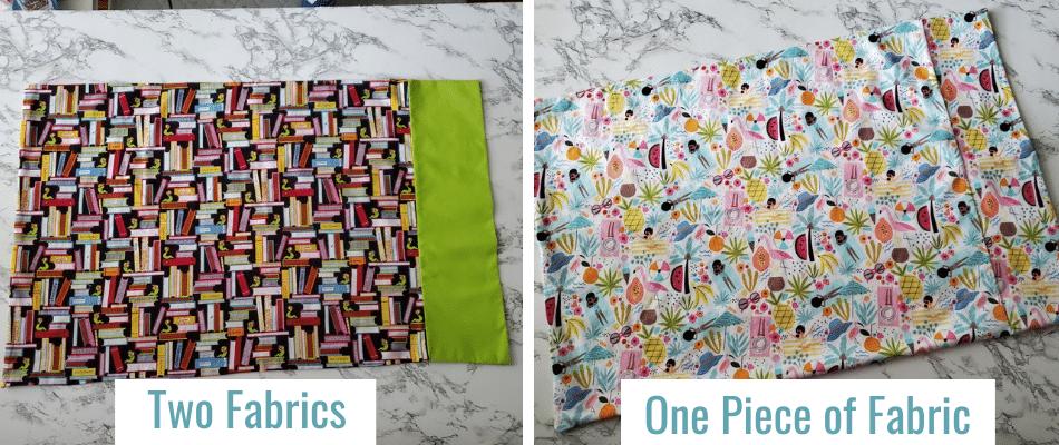 Two Fabrics vs one fabric pillowcase