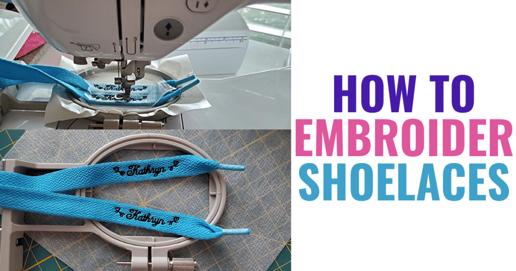shoelaces are a fun embroidery gift idea