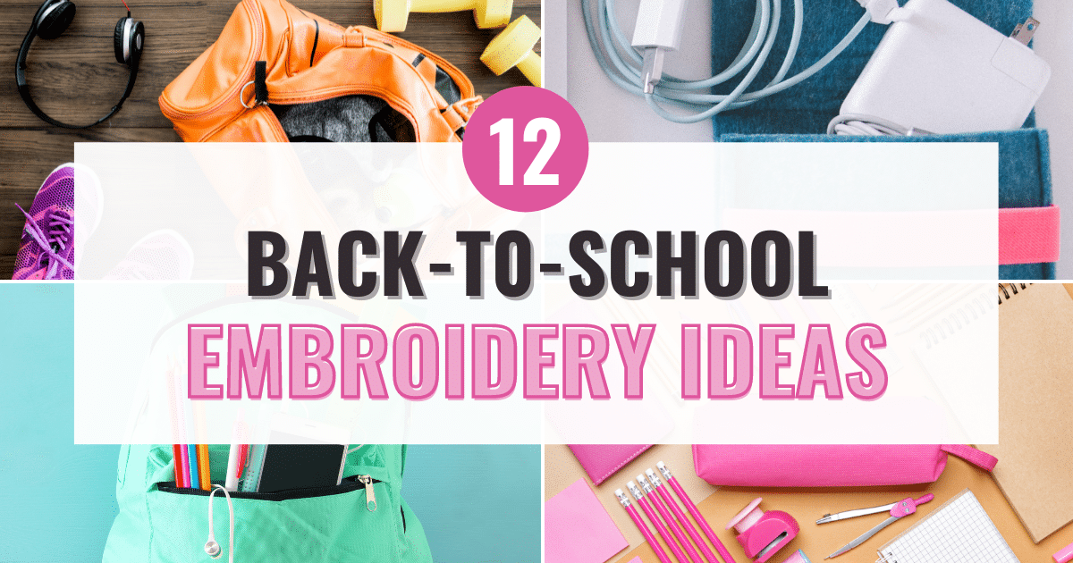 back to school embroidery ideas