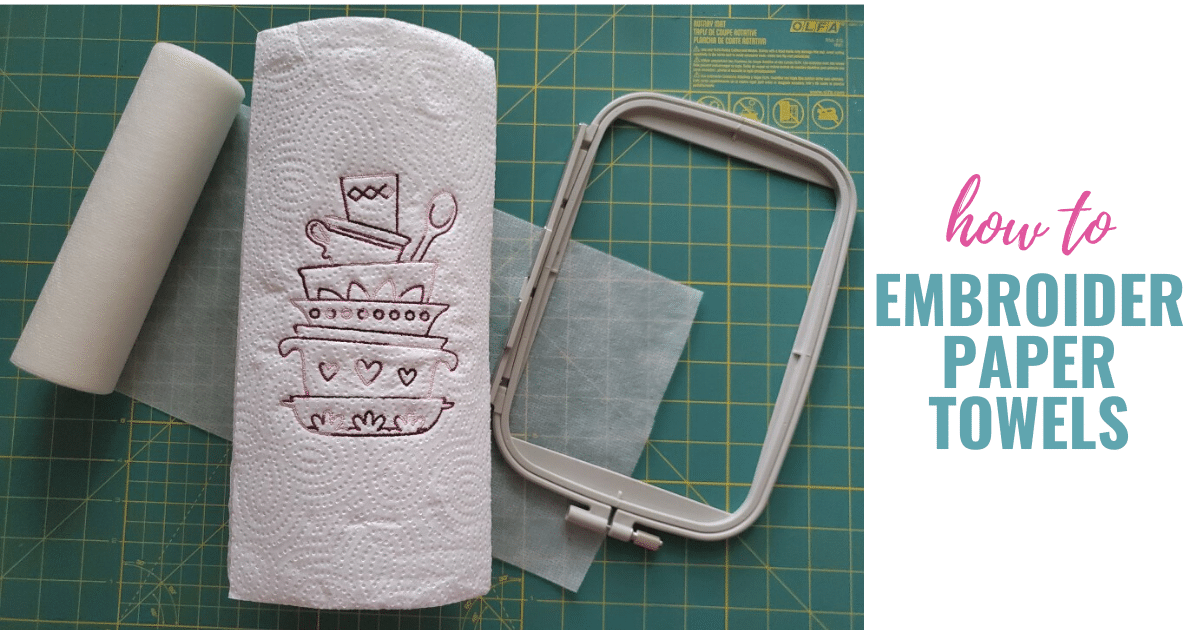 How to embroider on paper towels