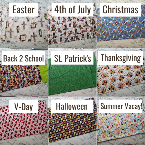 seasonal pillowcaase ideas for kids