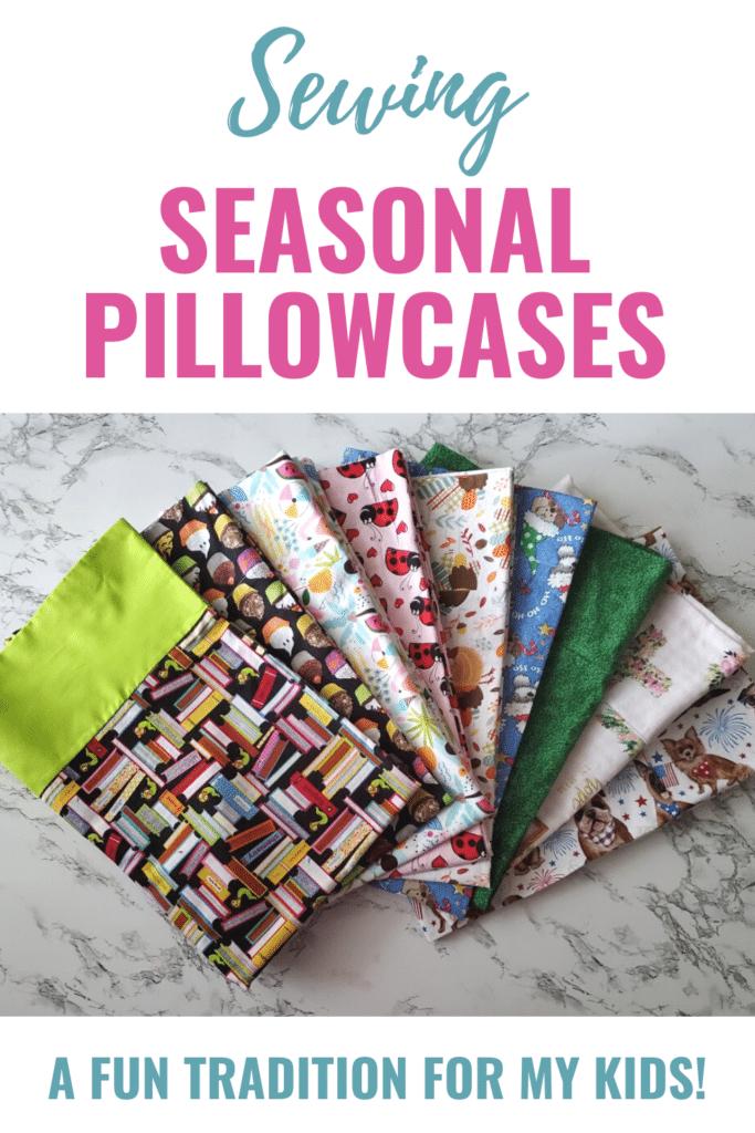 sewing holiday pillowcases