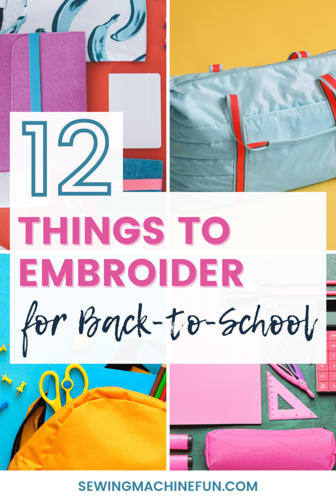 things to embroider for back to school - projects