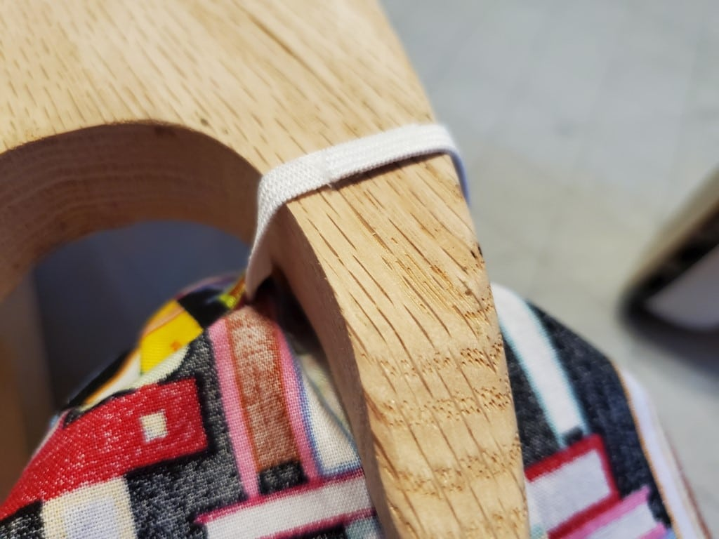 fusing elastic in the waistband