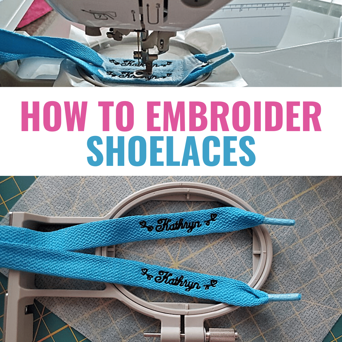 How to Make Custom Shoelaces with an Embroidery Machine