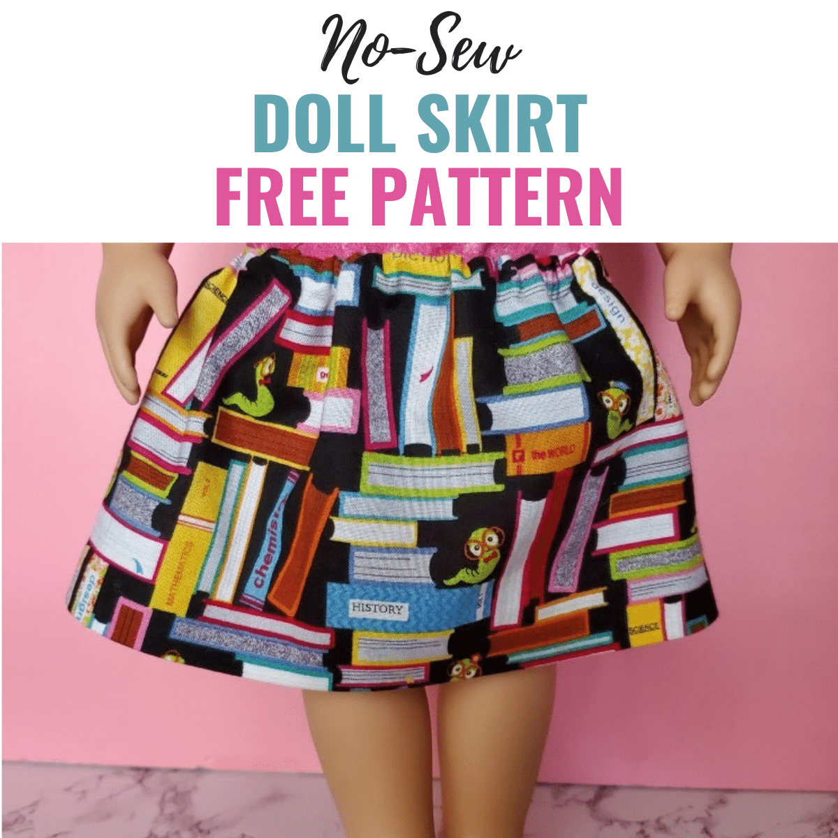 Free No-Sew Doll Skirt Pattern & Tutorial