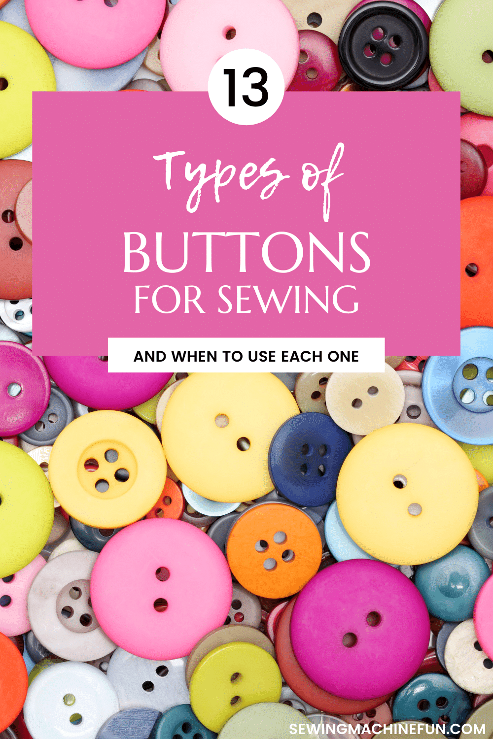 types of buttons in sewing clothes