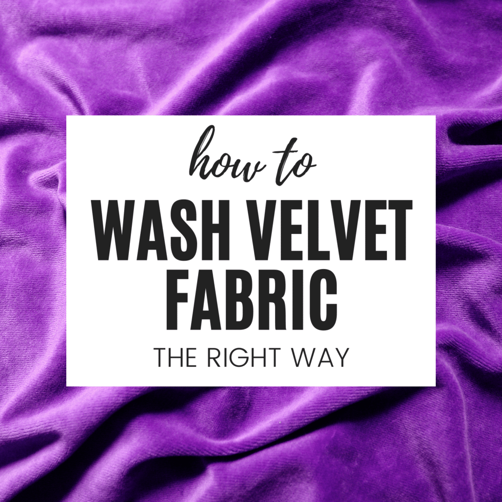 can you wash velvet fabric