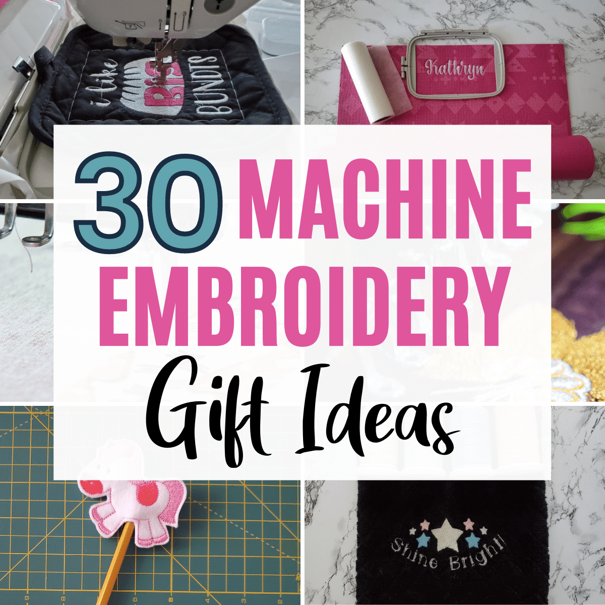 30+ Machine Embroidery Gift Ideas to Make & Give