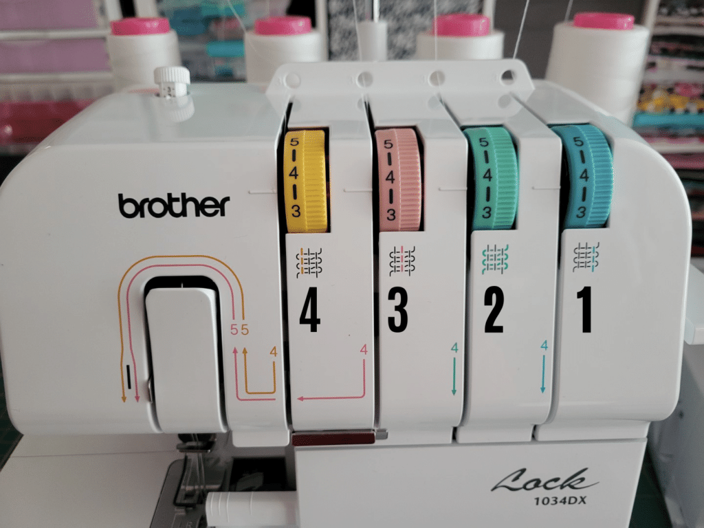threading order on the brother 1034dx